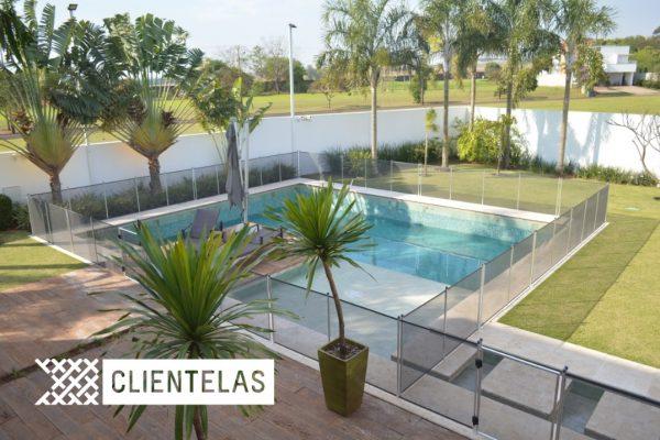 Cerca removível para piscina - Clientelas Curitiba