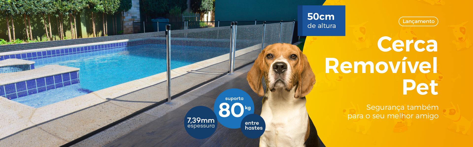 Cerca de proteção para piscina - Clientelas